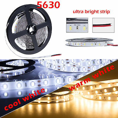 5M 10M Waterproof 5630 LED Flexible Strip Light Warm Cool White Rope Lamp DC 12V