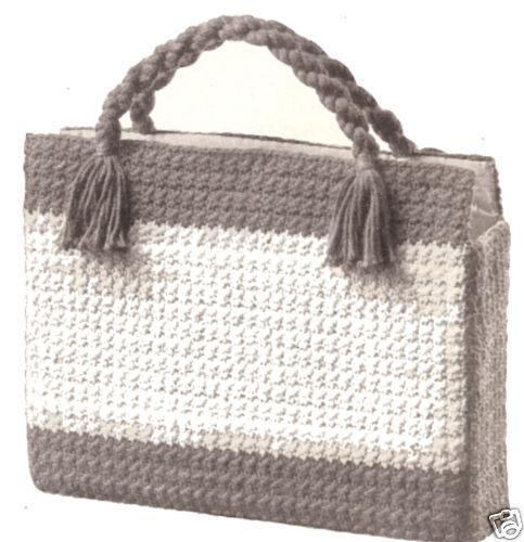 Crochet Shopping Briefcase Laptop Knitting Bag Pattern Ebay