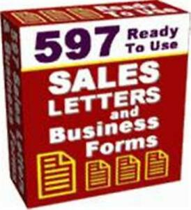 Image Is Loading 597 Ready To Use Sales Letters Ebook On