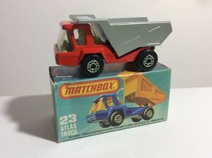 Matchbox-Superfast-23b-Atlas-Truck-Red-Body-Silver-Dumper