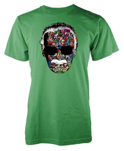 Stan Lee Memorial comic design superhero head kids t shirt