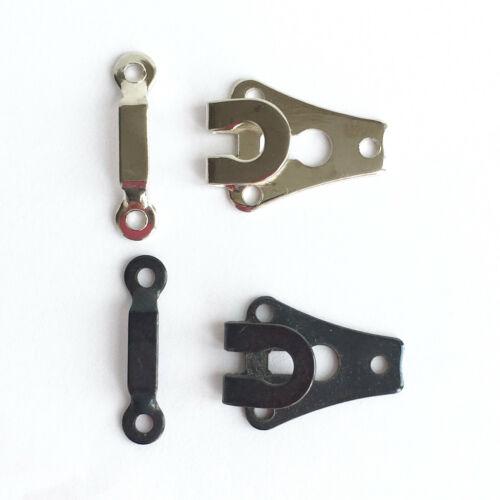 20mm X 15mm negro o color plata 5 X Standard Pantalón//Falda ganchos y Bar
