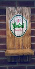 GROLSCH  sign plaque  wooden fathers day gift mancave shed bar pub