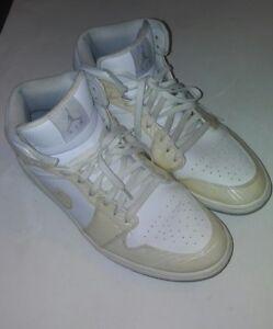 NIKE Air Jordan 1 Phat MID Men s Size 12 Carbon Fiber White Wolf ... b485a8192b