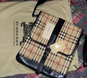 Dettagli su burberry borsa tracolla messenger portadocumenti originale