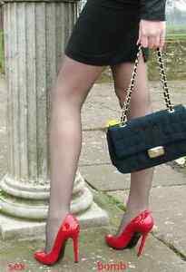 SEXY scarpe decolte domina nere TACCO spillo 15 DAL 35 AL 46 fashion GLAMOUR  !
