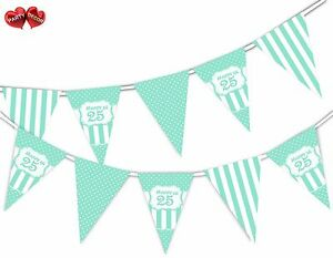 Happy-25th-Mint-Happy-Birthday-Anniversary-Themed-Bunting-Banner-by-PARTY-DECOR