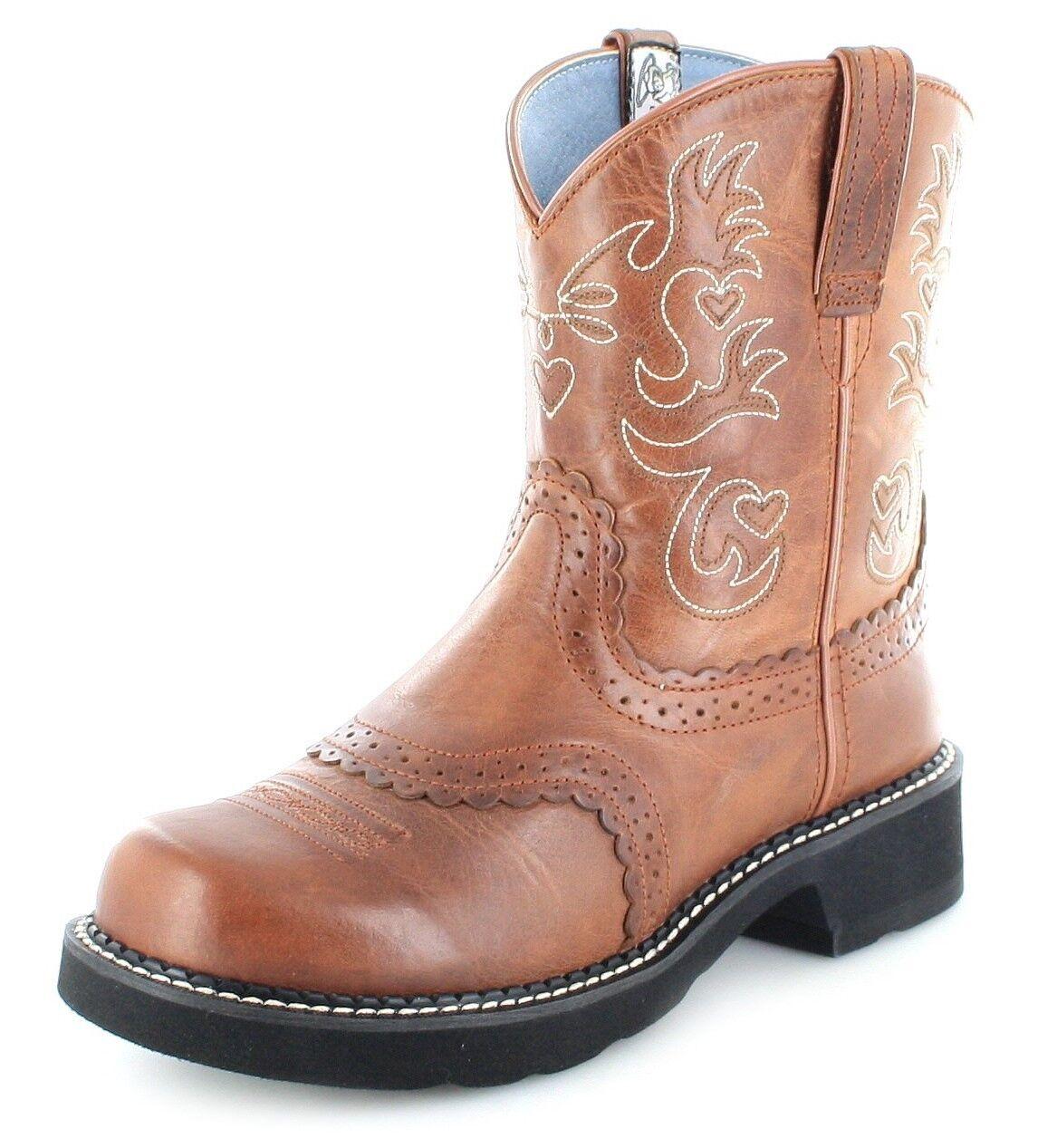 Ariat 0860 fatbaby Saddle Rebel señora botas de cuero marrón westernreitbotas