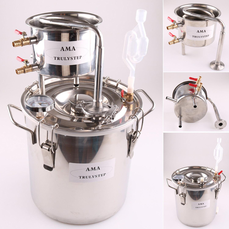 Alambic 30L Distillateur Maison Alcool  Essentielles Destille Acier Inoxydable