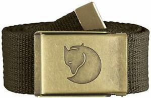 Fjallraven-Canvas-Brass-Belt-38-mm-4-cm-width-Dark-Olive
