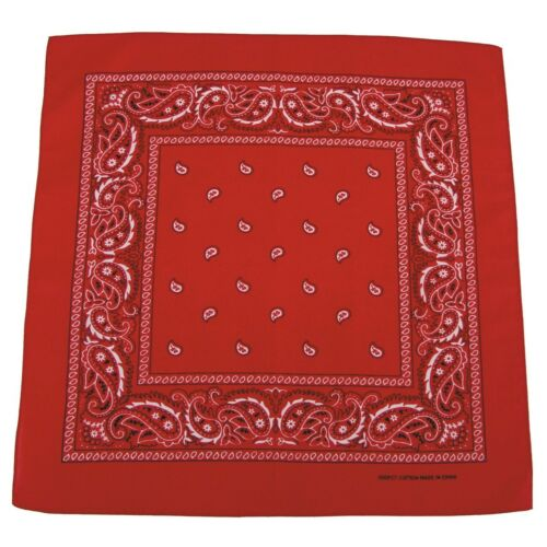Halstuch Tuch Schal Kopftuch 100/% Baumwolle 55x55 cm NEU MFH Paisley BANDANA