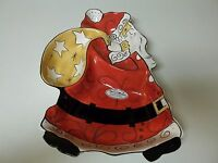 Clay Art Old World Santa Chip & Dip Platter In Box