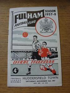 16111957 Fulham v Huddersfield Town  Light Fold Socre Noted On Back amp Inside - Birmingham, United Kingdom - 16111957 Fulham v Huddersfield Town  Light Fold Socre Noted On Back amp Inside - Birmingham, United Kingdom