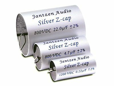 1 Pair (2pcs) Of Jantzen Silver Z-cap Mkp Capacitors 2% 800-1200v (all Values)