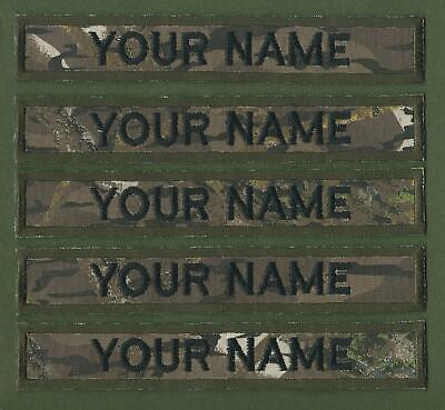Camouflage Name Tapes Military Name Strips x 5 Army Name Tags