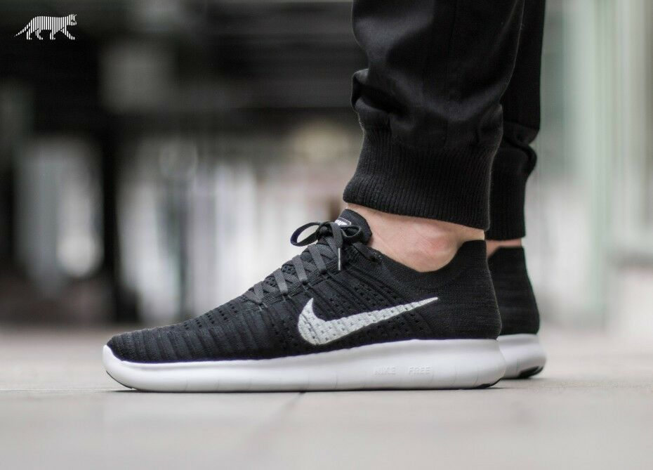 NIKE Free RN 831069-001 Flyknit noir fonctionnement Baskets chaussures Trainers 831069-001 RN Taille 7.5 f3602a