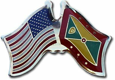 Pack of 24 USA American Equatorial Guinea Friendship Flag Hat Cap lapel Pin