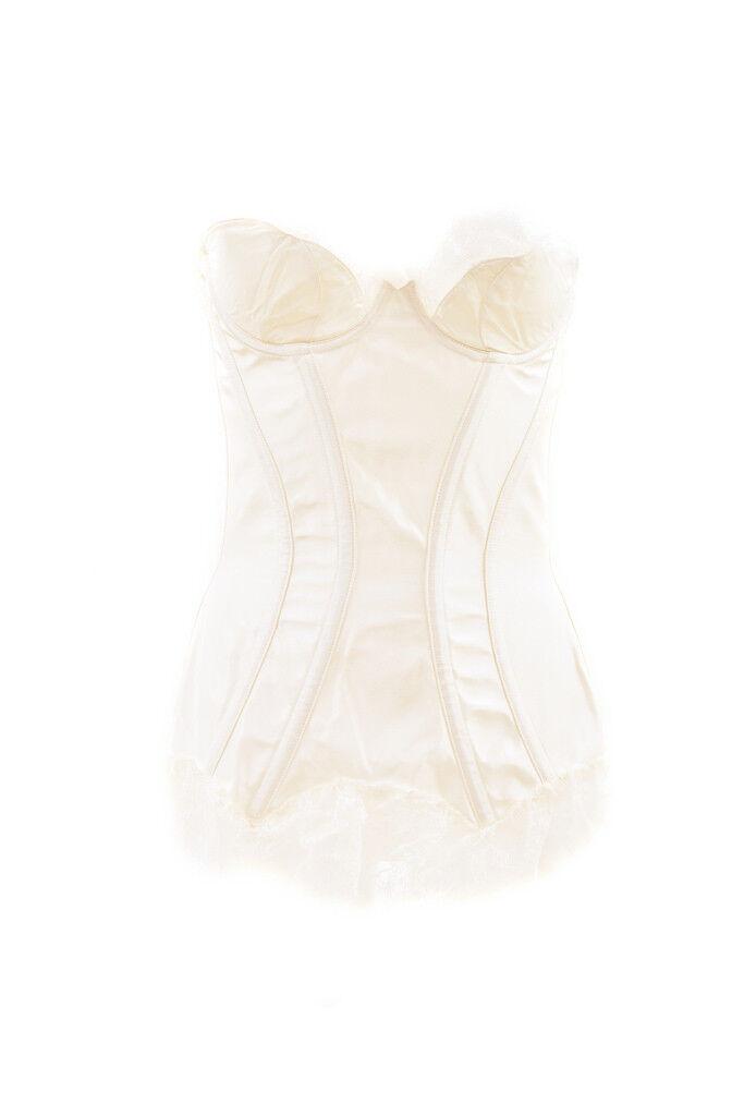 Agent Provocateur Women's Elegant Silky Lace Corset White Size S RRP  BCF88