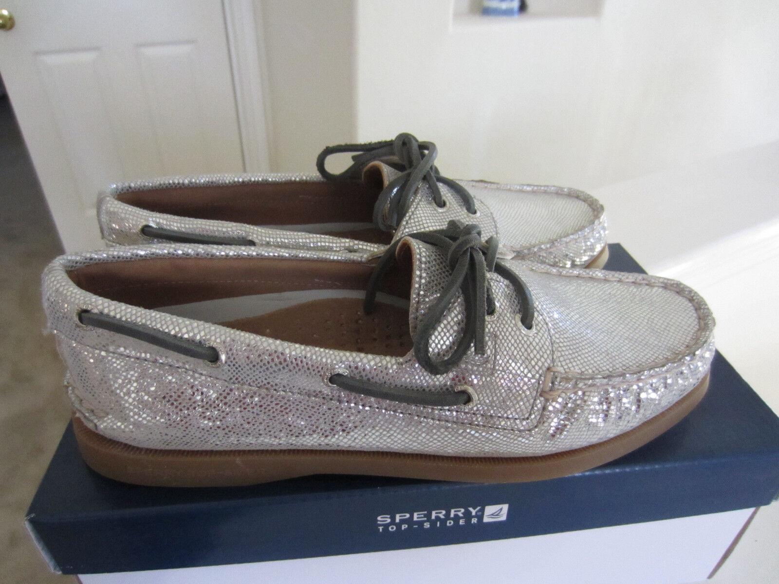 sperry haut sider femmes a / taille o 2-eye taille / de chaussures python serpent pour métalliques 7,5  95 30b397