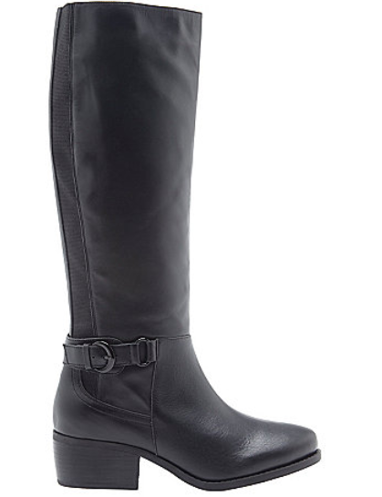 LANE BRYANT MERCEDES LEATER CLEAN RIDING BOOTS Sz 11 (AS)