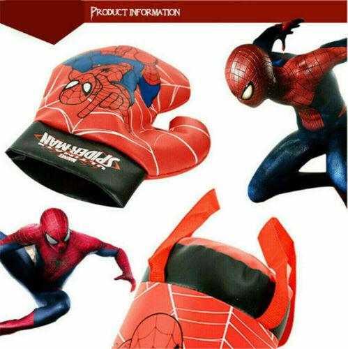 Marvel Spiderman Kids Boxing Bag Gloves Punching Set Avengers Exercise Sport Toy