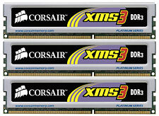 Nuevo 3GB (3x1GB) DDR3 Kit de triple canal Corsair (PC3-10600) (TR3X3G1333C9)