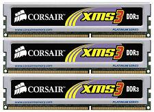 BRAND NEW 3GB (3x1GB) Corsair DDR3 Triple Channel Kit (PC3-10600) (TR3X3G1333C9)