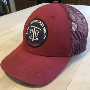 Image is loading Patagonia-Great-Pacific-Iron-Works-Trucker-Hat-Excellent- 5456b052cbd