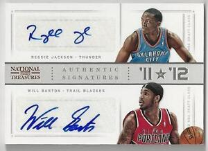 the latest 27bac ffb9c Details about 2012-13 PLAYOFF NATIONAL TREASURES '11 VS '12 JACKSON /  BARTON DUAL AUTO 31/99!!