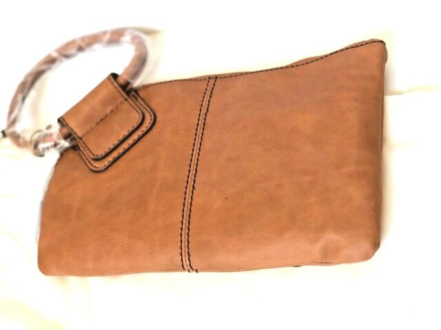 Hobo International Sable Willow Leather Clutch Wristlet Wallet New