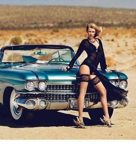 Cadillac Eldorado 1 Vintage Coche Clásico 1 24 Azul Carrusel sueño 12 Modelo 18