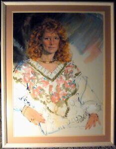 "Paul Melia Framed Image 21"" X 29""  original painting"