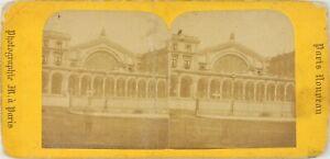 Francia Parigi Gare Da L È, Foto Stereo Vintage Albumina Cartoncino Danneggiati