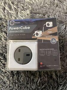 PowerCube Extended USB Power Enchufe de Reino Unido - 1.5 metros-Gris/Blanco
