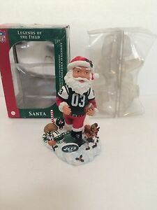9e11d6e1 Details about LEGENDS OF THE FIELD NEW YORK JETS SANTA LIMITED EDITION  BOBBLEHEAD