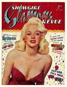 1950/'s Glamour Photography Magazine Cover Poster A3 A2 Print