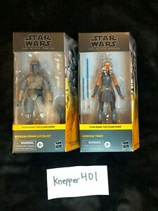 Star Wars The Black Series Clone Wars Mandalorian Loyalist / Ahsoka Tano LOT