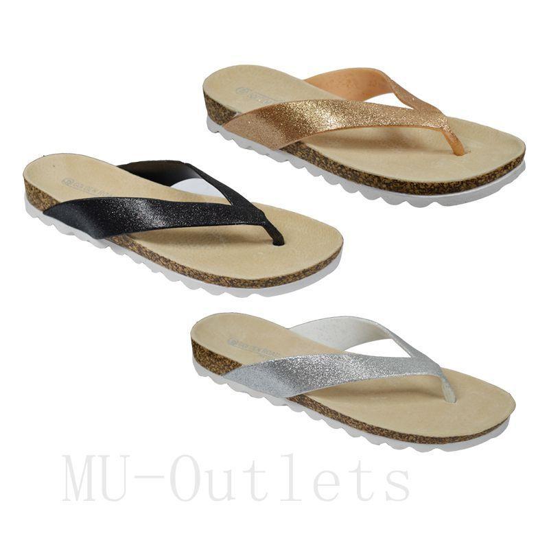 New Womens Summer Sparkling Sandals Casual Thong Flat Flip Flops Sandals Sparkling Slipper(#GR238) 0ab39a