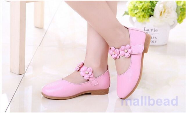 Toddler Baby Girl Shoes kids Flats Mary Jane flats dress Pink princess shoes