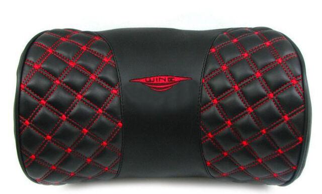 1PCS Black Red Faux Leather Auto Car Rest Cushion Neck Pillow #23475