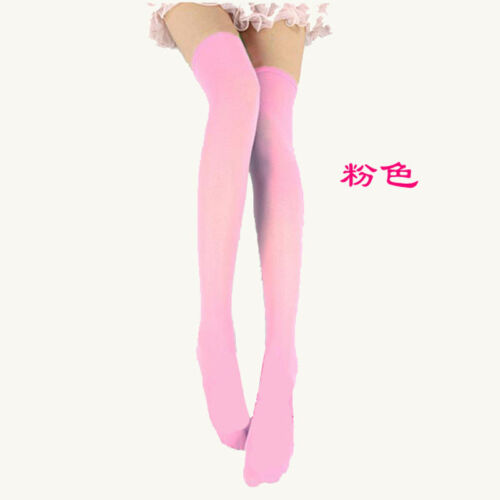 Women Girl Stocking Cable Knit Extra Long Boot Socks Over Knee Thigh High School