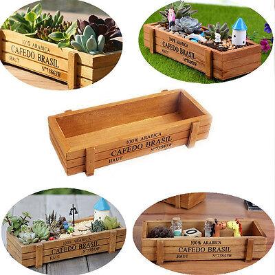 1x Retro Wooden #L Succulent Plants Flower Pot Home Party Wedding Ornament Box