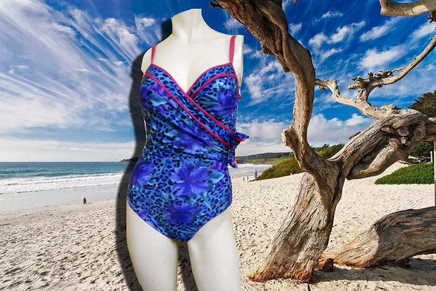 NWT GOTTEX ANIMAL AND FLOWER PRINT W  PINK TRIM 1 pc BATHING SUIT SWIMSUIT sz 8