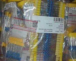 100-Stueck-5x-20-Stueck-Widerstaende-Metallfilm-1-0-6W-Wert-waehlen