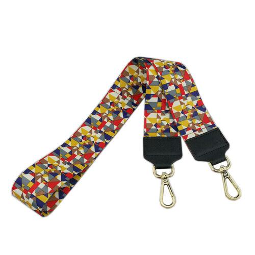 Wide Canvas Striped Flower Bag Strap Crossbody Handbag Tote Replacement 105cm