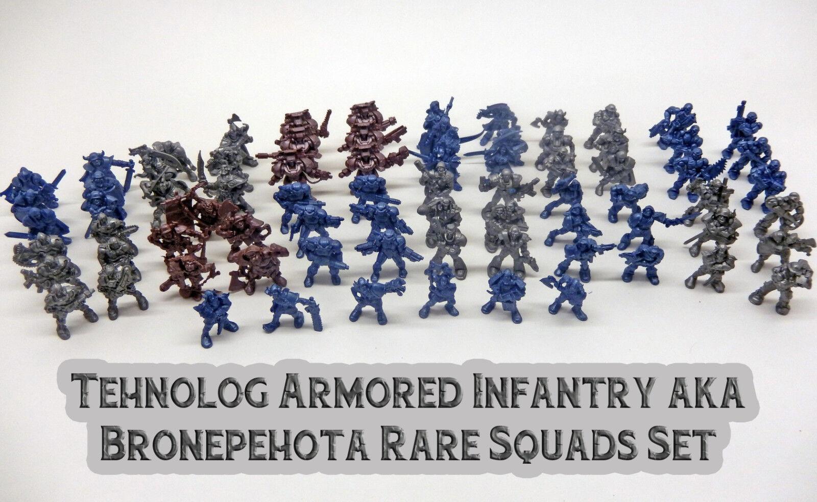 Sci-fi Cyberpunk Infanzia Plastic, Bronepecalientea, 12 squadre rare, Tehnolog, 40mm