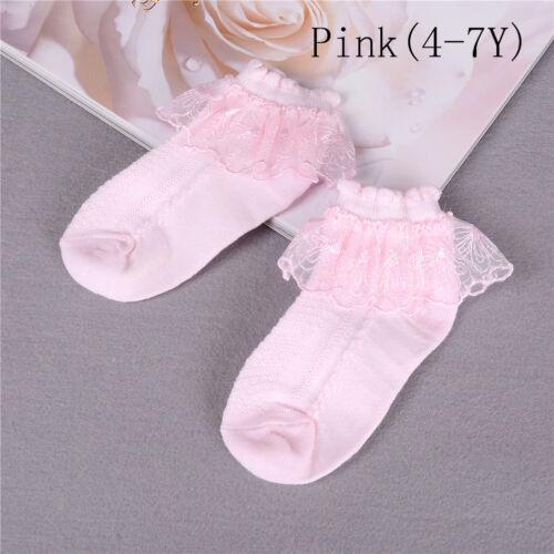 Summer Baby Girls Kids Toddler Socks Cotton Lace Princess Ankle Mesh Socks  Rs