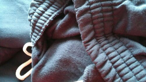 Fruit the Loom Men soft cotton Elastic end Black drawstring waist Sweatpant 4xl