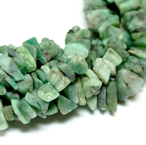 Australianas jade macroscópicas astilla 7x15 mm perlas piedras preciosas verde 1 Strang #4238