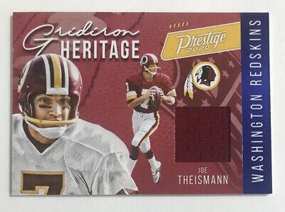 2020 Prestige Football Gridiron Heritage Joe Theismann Jersey Blue Xtra Points! | eBay
